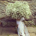 Josies bouquet of simple Gypsophila weddingflorist weddinginspiration love lace romancehellip