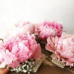 Bridesmaids corsages peony love corsage lace vintage pearls instaflower instaweddinghellip