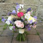Sallys bouquet weddinginspiration weddingflorist bridesbouquet meijerroses sweetavalanche sweetpea campanula lacehellip