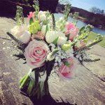 Sams spring bouquet weddinginspiration weddingflorist bridesbouquet springwedding tulips blossemyorkshire instaflowershellip